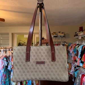 Dooney & Bourke Brown Signature Logo Handbag